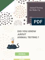 Animal Testing for Make Up