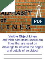 Unit c Basic Drafting Skills Alphabet of Lines