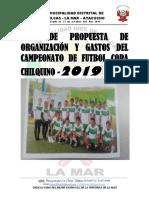 Plan de Trabajo Copa Chilcas 2019