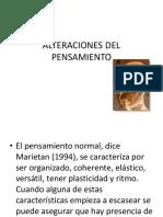 ALTERACIONES DEL PENSAMIENTO