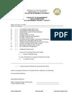 Checklist Retirement Facility(New)