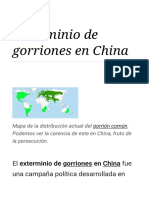 Exterminio de Gorriones en China