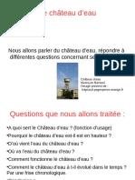 Travail Eloi Matheo Chateau d'Eau