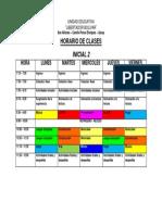 Horario de Clases INICIAL 1-2