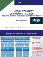 2035 Razumkov Centre Ukraine Energy Strategy
