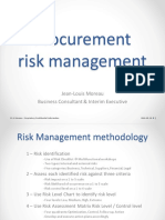 Risk Management, A Good Way to Avoid Self Inflicted Wounds