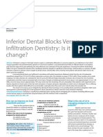 Inferior Dental Blocks Versus Infiltration Dentistry