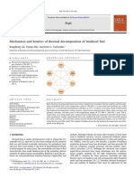 Mechanism and Kinetics of Thermal Decomposition of Biodiesel Fuel