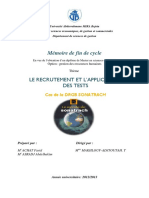 Le Recrutement Et l'Application Des Tests