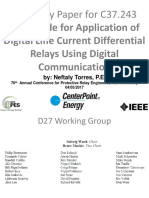 Summary Paper for for C37 243 IEEE Guide for Application of Digital Line Current Differential Relays