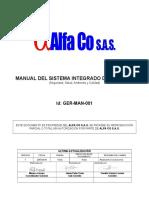 Ger-man-001 Manual Integrado de Gestión Hseq
