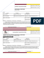 Scholarship Validation Form