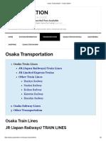 Osaka Transportation – Osaka Station