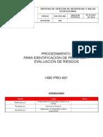HSE-PRO-001 Identif Peligros Eval Riesgo Rev