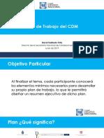 Curso para Aspirantes a Dirigencias Municipales. Plan de Trabajo CDM