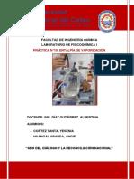 informe N° 10 ENTALPIA DE VAPORIZACION