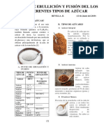 Puntos Ebullicion y Fusion de Los Diferentes Tipos de Azúcar