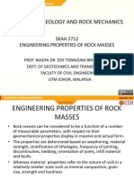 Engineering Properties of Rock Masses