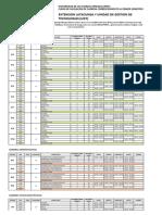 Distributivo Bloques y Horarios Para El Curso de Nivelacion de Carrera Primer Semestre 201901 Extension Latacunga y Ugt