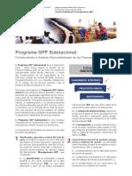 FS Programa GFP Subnacional 2018