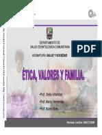 Etica Valores Familia DTA