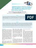 Sensitivitas Dan Spesifisitas Kriteria American College of Rheumatology (ACR) Dan Systemic Lupus International Collaborating Clinics Untuk Diagnosis Lupus Eritematosus Sistemik