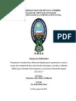 TRABAJO DIRIGIDO PROGRAMA DE FORMACIÓN EN DESC - CONCEPTO DE COMUNICACION Y EDUCACION.doc