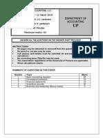 2018 Module Test 1 Question 1 FRK