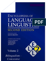 Brown (Ed) Encyclopedia of Language and Linguistics 2