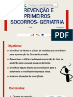 Prevenção e primeiros socorros -geriatria