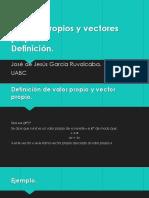 Valores Propios Definición
