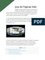 Los 13 Tipos de Páginas Web