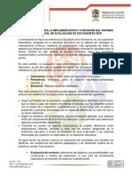 Orientaciones Para La Implementacion y o Revision Del Sistema Institucional de Evaluacion de Estudiantes Siee