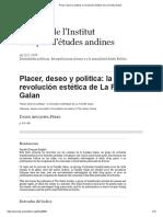Placer, Deseo y Política_ La Revolución Estética de La Familia Galan