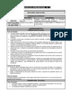 DESARROLLO PERSONAL PRIMER  AÑO CURRÍCULO NACIONAL 2019