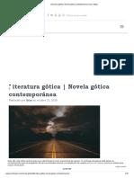 Literatura Gótica _ Novela Gótica Contemporánea _ Aran Maza