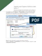 Pasos Para Compartir Una Carpetas Archivos Entre PCs Con