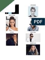 24 artistas cantantes