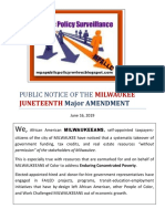 Public Notice of the Milwaukee Juneteenth Major Amendment