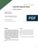 Lesión en porción larga de biceps