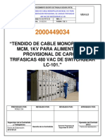 2000449034-Pets-tendido de Cable Monopolar 500 Mcm, 1kv Para Alimentacion Provisional de Cargas Trifasicas 480 Vac de Swicthgear