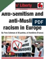 Anti-semitism and anti-Muslim racism in Europe