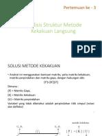 2. Analisis Struktur Metode Kekakuan Langsung 3