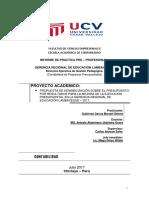 Informe Final de Prácticas Pre-profesionales