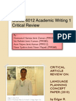 Group 6 - Edgar 's Critical Review
