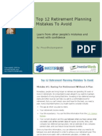 Free Report Top 12 Retirement Planning Mistakes to Avoid