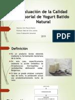 Evaluación de La Calidad Sensorial de Yogurt Batido