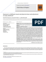 exposure to childhood sexual and physical abuse and adjustment in early adulthood