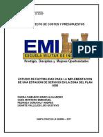 ESTUDIO DE FACTIBILIDAD PARA LA IMPLEMENTACION DE UNA ESTACION DE SERVICIO EN LA ZONA DEL PLAN 4000