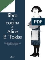 39129 El Libro de Cocina de Alice B Toklas Fragmento